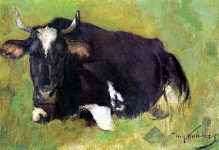 Wilhelm Kuhnert - Lying cow
