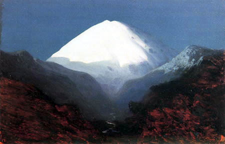 Archip Iwanowitsch Kuindshi - Der Elbrus - Mondnacht