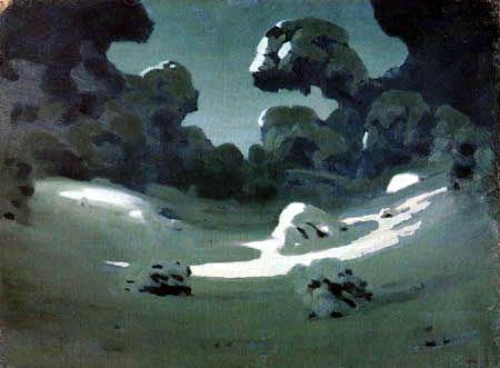 Archip Iwanowitsch Kuindshi - Winter - Mondflecken im Wald
