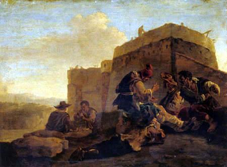 Pieter Jacobsz. van Laer (Il Bamboccio) - The Dicer