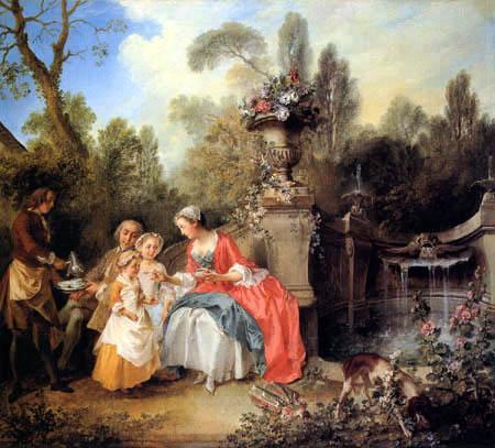 Nicholas Lancret - Eine Dame im Garten