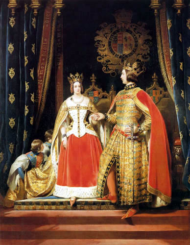 Sir Edwin Henry Landseer - Queen Victoria and Prince Albert at the Bal Costumé