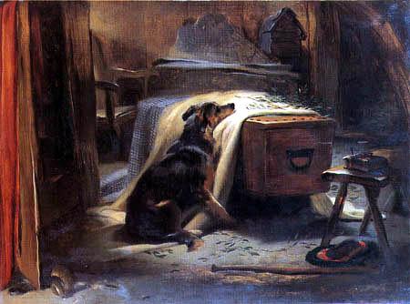 Sir Edwin Henry Landseer - Trauer um den Herrn