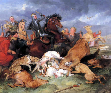 Sir Edwin Henry Landseer - The hunting of chevy chase