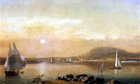 Fitz Hugh Lane - Port and mountains of Camden