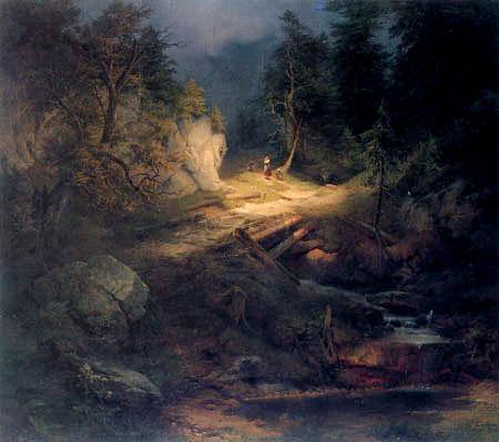 Julius Lange - Wooded landscape