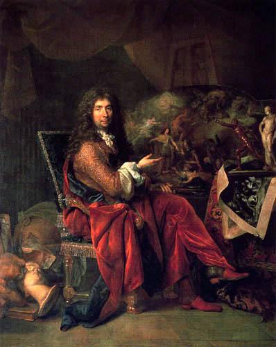 Nicolas de Largillière - Portrait of the painter Charles le Brun
