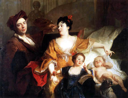 Nicolas de Largillière - Portrait of a family