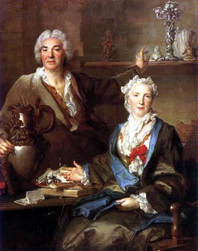 Nicolas de Largillière - Portrait of Thomas Germain and his wife