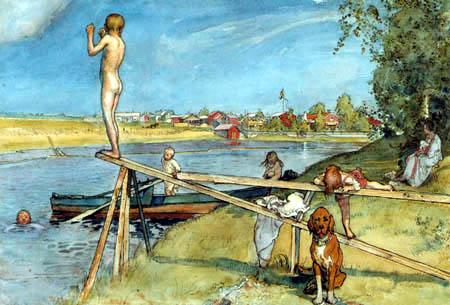 Carl Olof Larsson - A good bath place