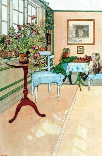 Carl Olof Larsson - Das Schachspiel