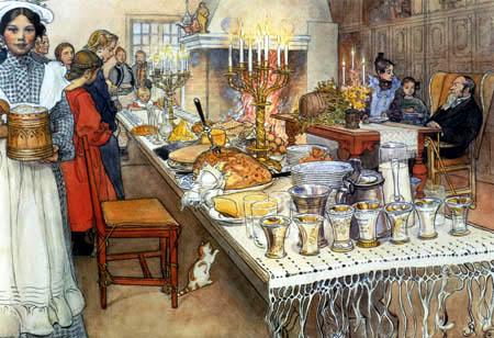 Carl Olof Larsson - On Christmas Eve