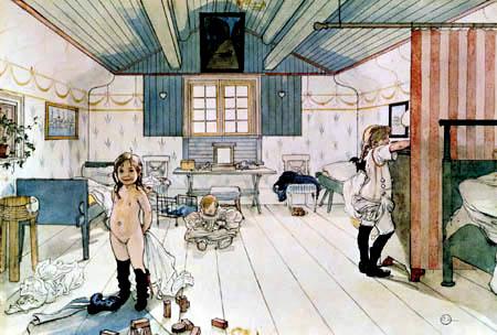 Carl Olof Larsson - Chambre à coucher
