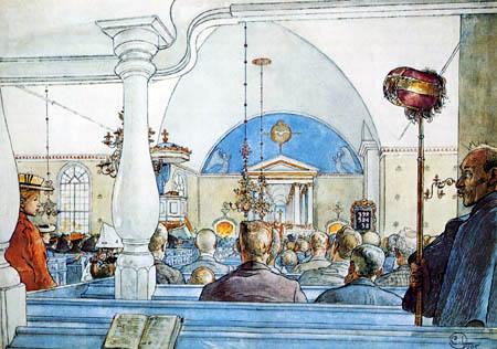Carl Olof Larsson - In der Kirche