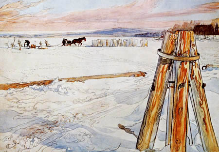 Carl Olof Larsson - Ice block saws
