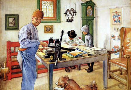 Carl Olof Larsson - Die Druckwerkstatt