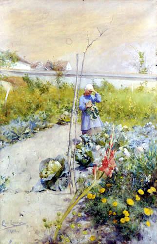 Carl Olof Larsson - Im Gemüsegarten