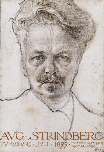 Carl Olof Larsson - August Strindberg