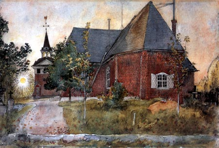Carl Olof Larsson - The old church in Sundborn