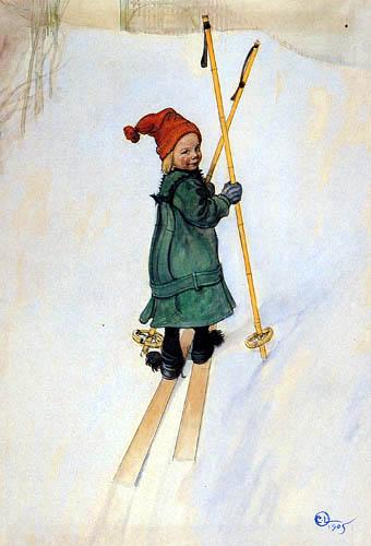 Carl Olof Larsson - Esbjörn på Skidor