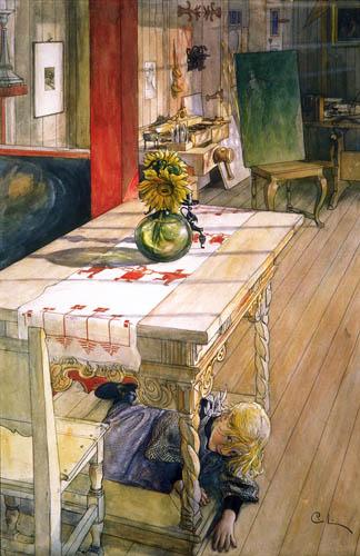 Carl Olof Larsson - Versteckspiel. Kurragömma