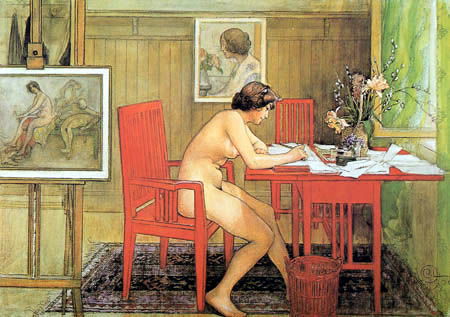 Carl Olof Larsson - Reading model