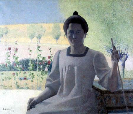 Achille Laugé - Contre-jour. Portrait de la femme de l´artiste