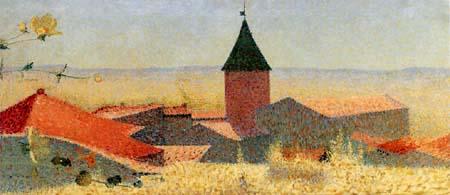 Achille Laugé - The small village, Cailhau