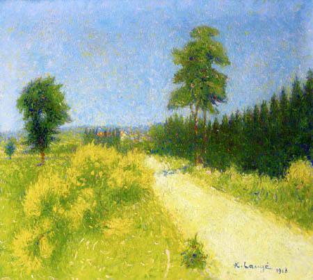 Achille Laugé - Road to Belveze