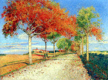 Achille Laugé - Road in Cailhau