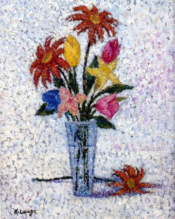 Achille Laugé - Vase with Flowers