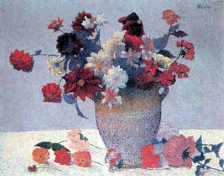 Achille Laugé - Vase mit Blumen