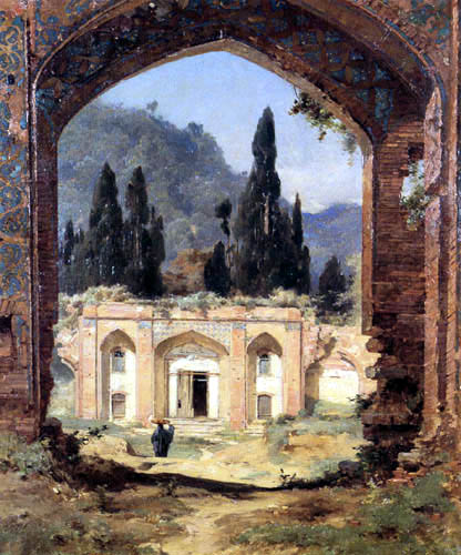 Jules Laurens - Ruinen des Asraf-Palastes in Persien