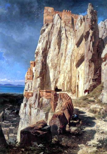 Jules Laurens - The cliff of Vann in Kurdistan