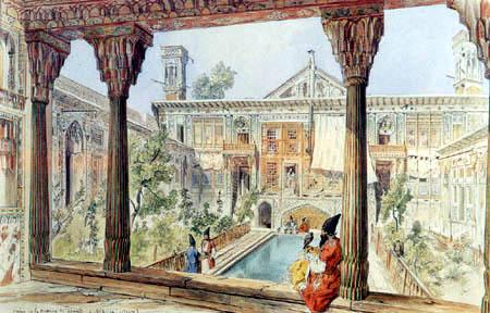 Jules Laurens - Palast des franz. Gesandten in Teheran