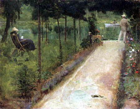 Sir John Lavery - A Grey Summer´s Day, Grez