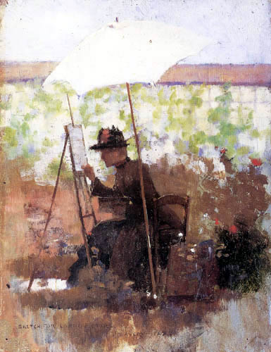 Sir John Lavery - Sketch for a Pupil of Mine