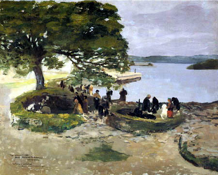 Sir John Lavery - The Walnut Tree