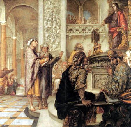 Juan de Valdés Leal - Jesus disputing with the doctors