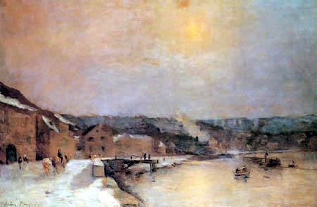 Albert Charles Lebourg - The Bank of the Seine near Bougival