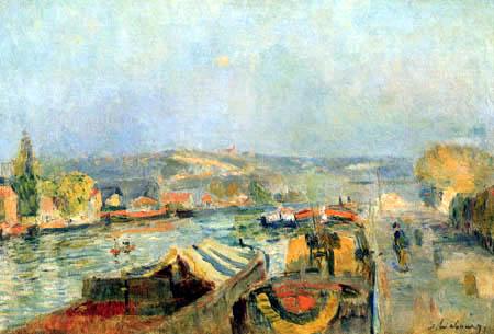 Albert Charles Lebourg - The Seine near Rouen