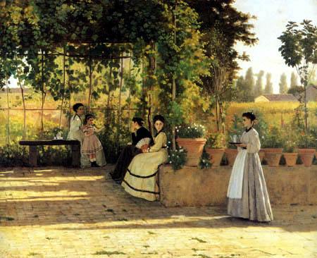 Silvestro Lega - The Pergola