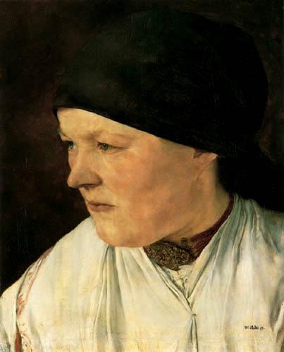 Wilhelm Leibl - Kopf eines Bauernmädchens