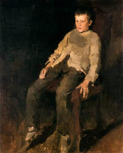 Wilhelm Leibl - Farmers boy