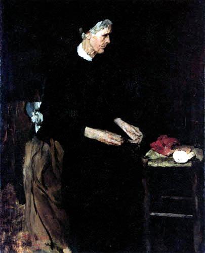Wilhelm Leibl - Eine alte Pariserin