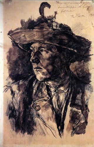 Wilhelm Leibl - Kopf eines Bauernburschen