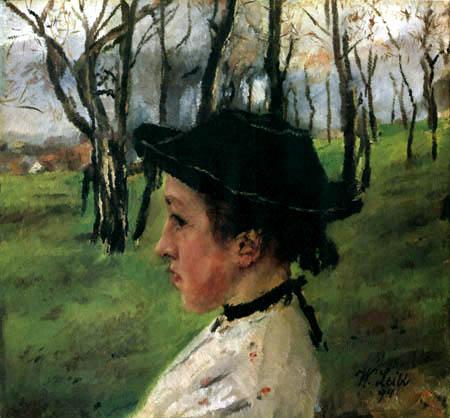 Wilhelm Leibl - Mädchen im Grünen