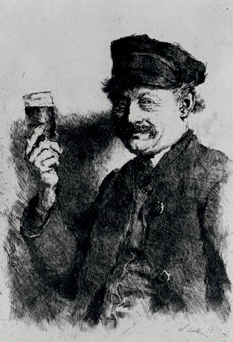 Wilhelm Leibl - The Drinker