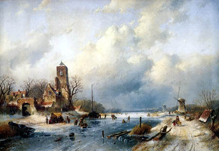 Charles Henri Joseph Leickert - Winter Landscape
