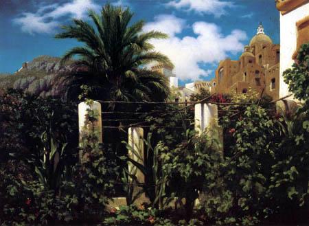 Frederic Leighton - Garten eines Gasthauses auf Capri